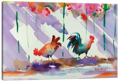 Key West Alarm Clock Canvas Art Print