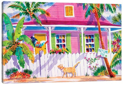 Key West Characters Canvas Art Print