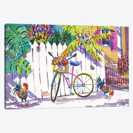 Keywest Cruiser Canvas Print #ELN30} by Ellen Negley Canvas Art