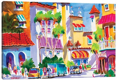 Life Is Good In Delray Canvas Art Print