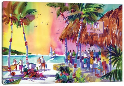 Mai Tai Sunset Canvas Art Print
