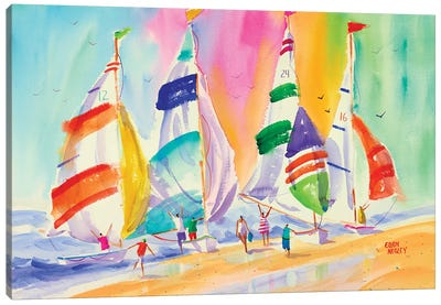 Summer Sails Canvas Art Print