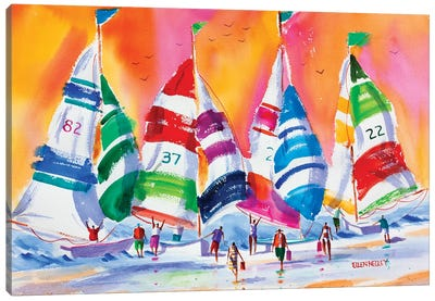 Warm Summer Sails Canvas Art Print
