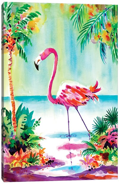 Flamingo Lagoon Canvas Art Print