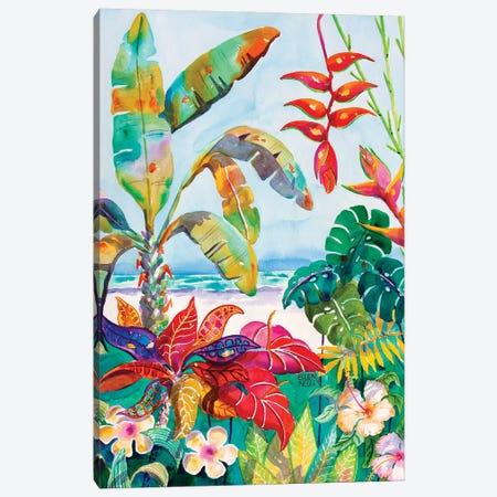 Florida Foliage Botanical Canvas Print #ELN76} by Ellen Negley Canvas Print