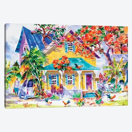 Key West Colors Canvas Print #ELN77} by Ellen Negley Canvas Print