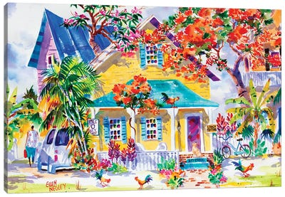 Key West Colors Canvas Art Print
