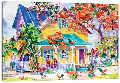 Key West Colors Canvas Art Print
