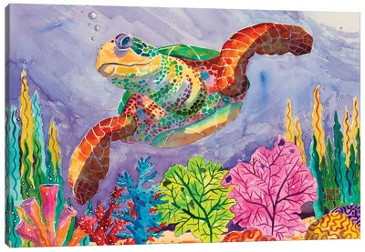 Turtle Tango Canvas Art Print