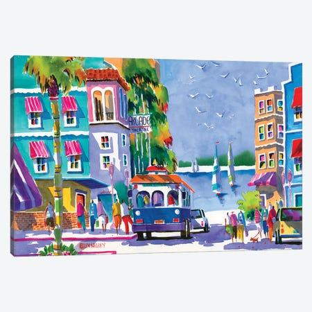 City Of Palms Fort Myers Canvas Print #ELN7} by Ellen Negley Canvas Wall Art