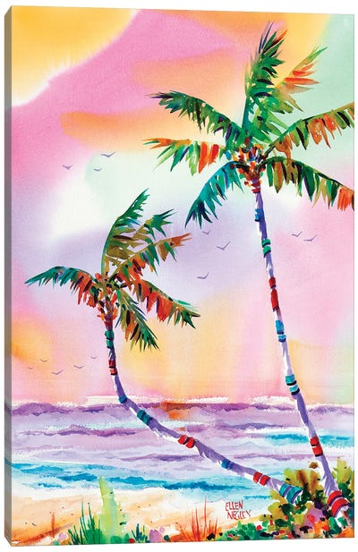 Lonely Palms Canvas Art Print