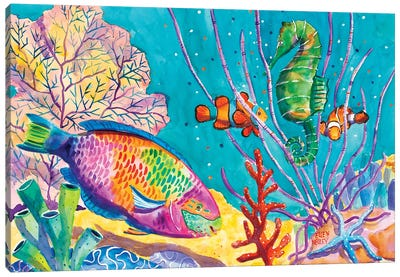 Parrot Fish Canvas Art Print
