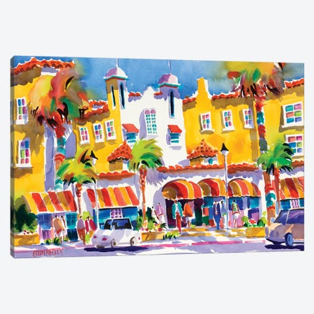 Colony Hotel Delray Beach Canvas Print #ELN8} by Ellen Negley Canvas Art Print