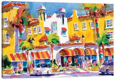 Colony Hotel Delray Beach Canvas Art Print