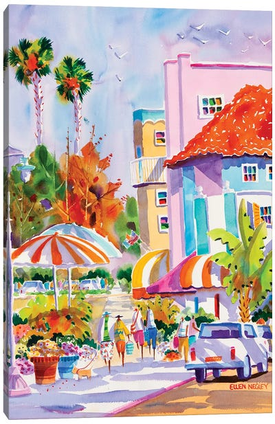 St. Armands Sarasota Style Canvas Art Print