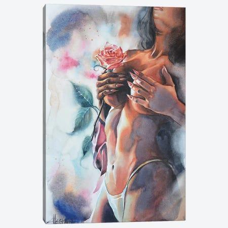 Fading Fragrance II Canvas Print #ELT11} by Ellectra Art Canvas Wall Art