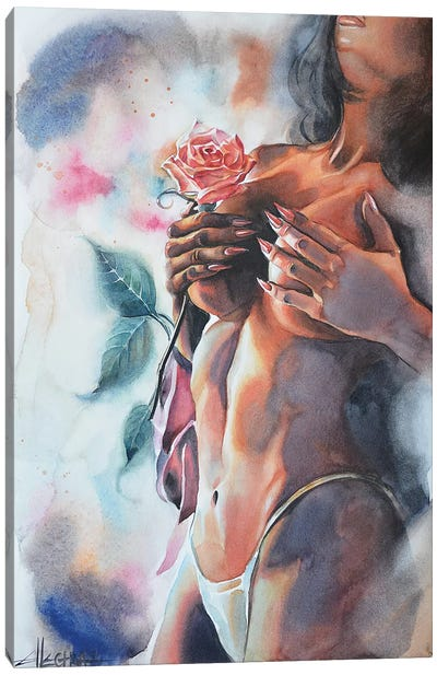 Fading Fragrance II Canvas Art Print