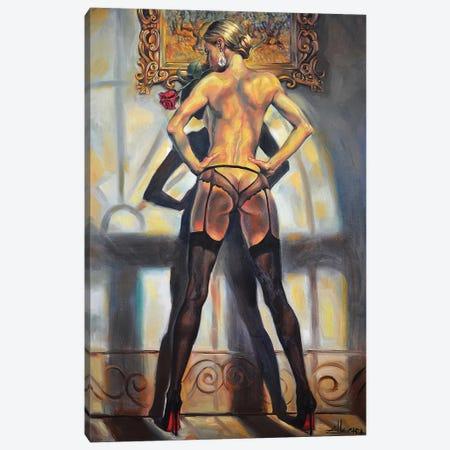Missing Rose Canvas Print #ELT17} by Ellectra Art Canvas Print