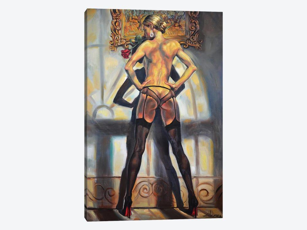 Missing Rose by Ellectra Art 1-piece Canvas Art Print