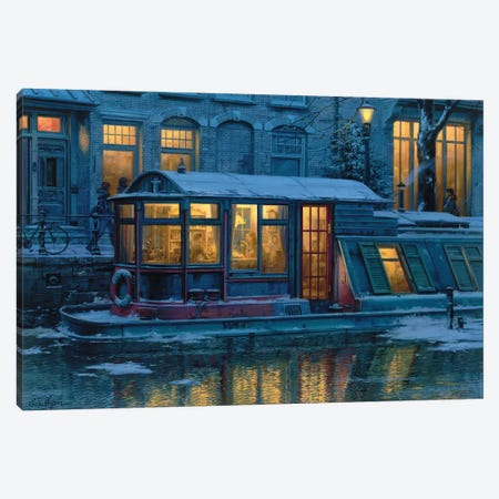 Evening Teatime Canvas Print #ELU10} by Evgeny Lushpin Canvas Art Print