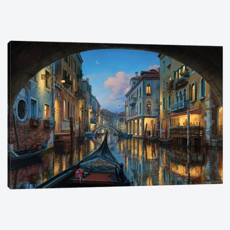 Love Is In The Air Canvas Print #ELU14} by Evgeny Lushpin Canvas Wall Art