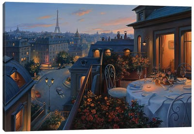 Paris Evening Canvas Art Print