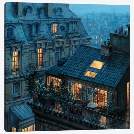 Rooftop Hideout Canvas Print #ELU20} by Evgeny Lushpin Canvas Wall Art