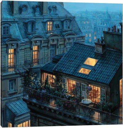 Rooftop Hideout Canvas Art Print