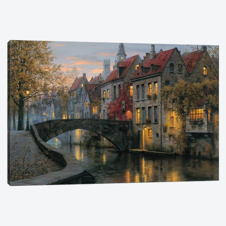 Silent Evening Canvas Print #ELU21} by Evgeny Lushpin Canvas Artwork