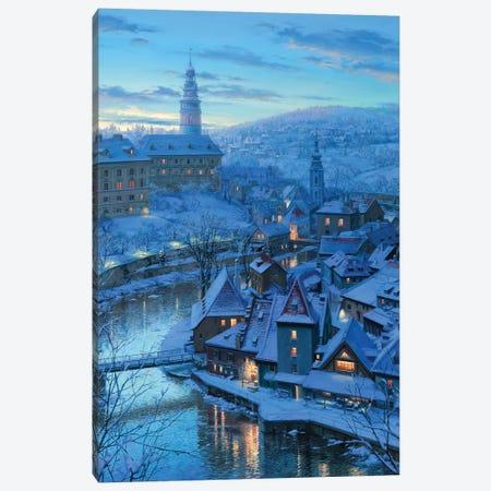 Twilight in Krumlov Canvas Print #ELU25} by Evgeny Lushpin Canvas Art Print