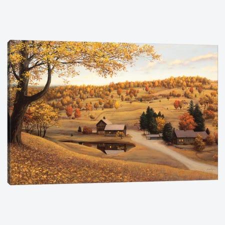 Vermont Farm Canvas Print #ELU27} by Evgeny Lushpin Art Print
