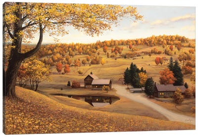Vermont Farm Canvas Art Print