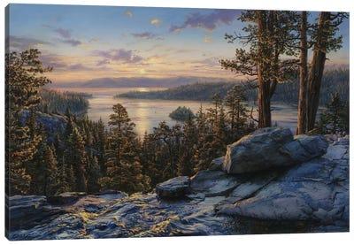 Dawn At Lake Tahoe Canvas Art Print