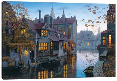 Autumn In Brugges Canvas Art Print
