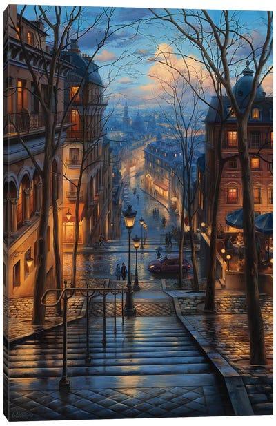 Montmartre Spring Canvas Art Print