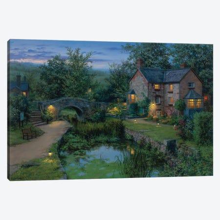 Old Pond Canvas Print #ELU32} by Evgeny Lushpin Art Print