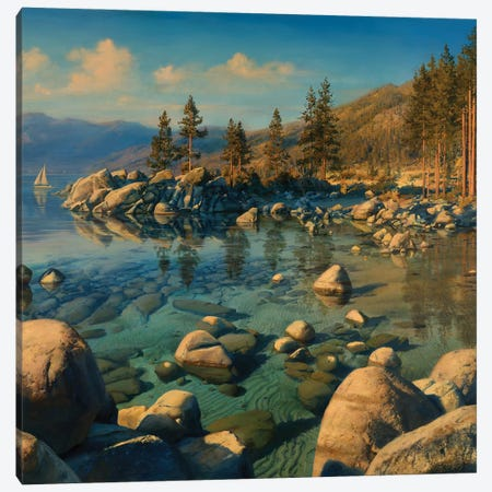Tahoe Serenity Canvas Print #ELU34} by Evgeny Lushpin Canvas Artwork