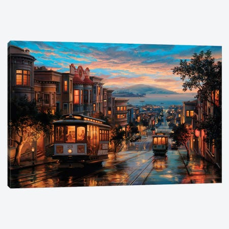 Cable Car Heaven Canvas Print #ELU4} by Evgeny Lushpin Canvas Wall Art