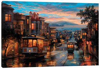 Cable Car Heaven Canvas Art Print