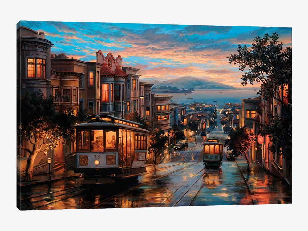 Cable Car Heaven by Evgeny Lushpin 1-piece Canvas Wall Art