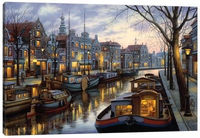 Canal Life Canvas Art Print