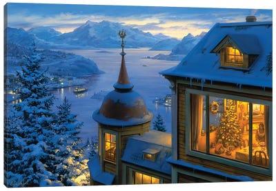 Coming Home For Christmas Canvas Art Print