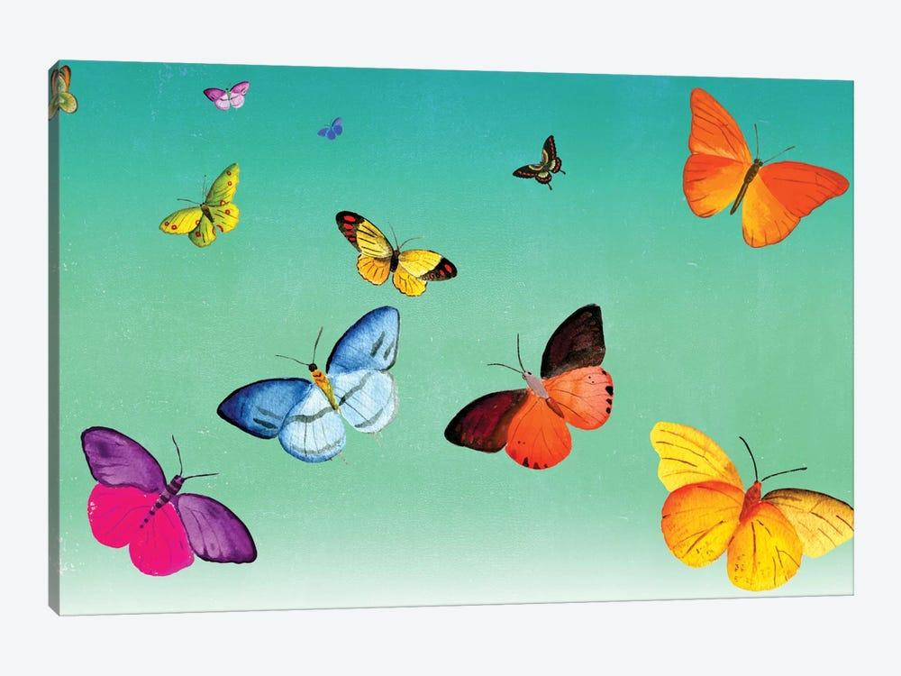 Butterflies by Ellen Weinstein 1-piece Canvas Wall Art