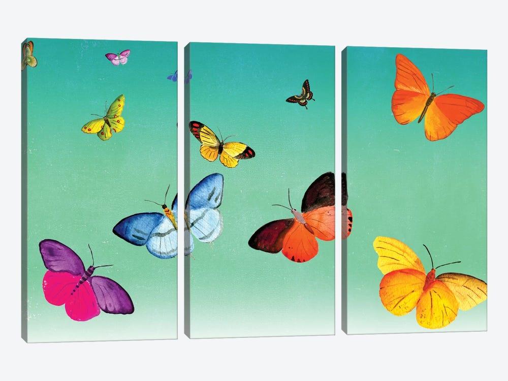 Butterflies by Ellen Weinstein 3-piece Canvas Artwork