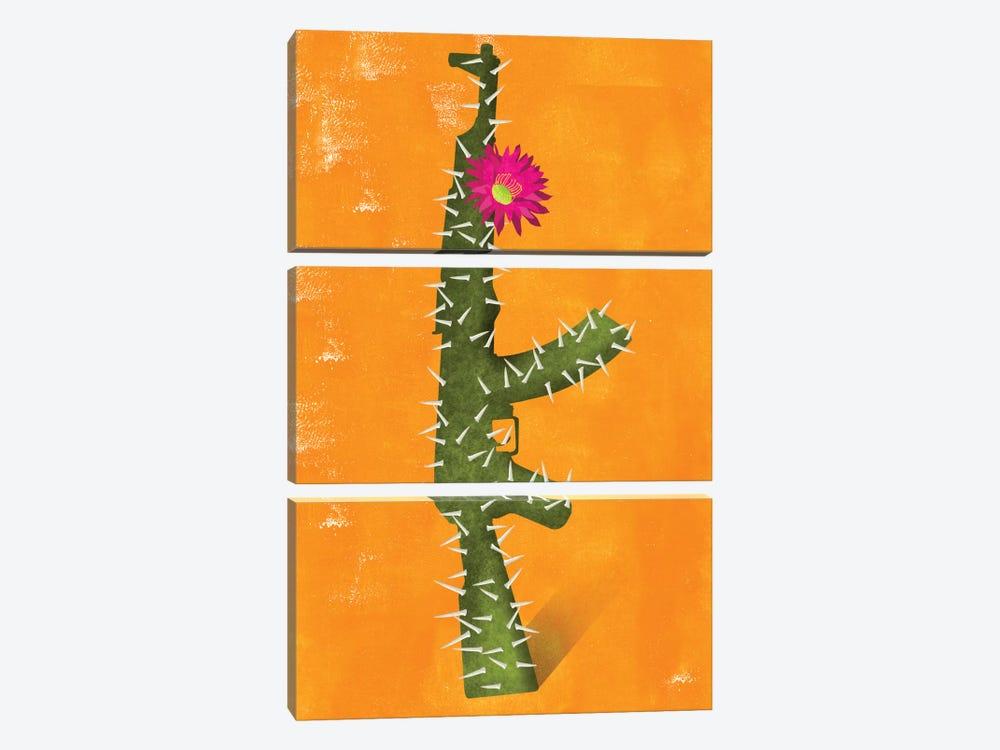 Flower Gun by Ellen Weinstein 3-piece Canvas Art Print