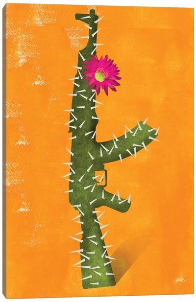 Flower Gun Canvas Print #ELW11
