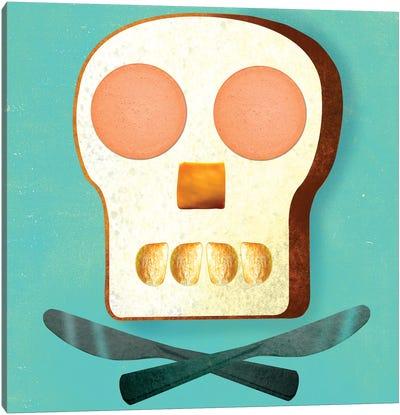 Food Skull Canvas Print #ELW12