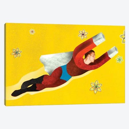 Magnetman Canvas Print #ELW13} by Ellen Weinstein Art Print