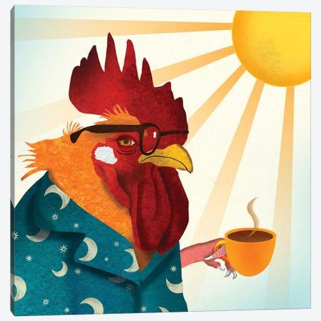 Rooster Canvas Print #ELW15} by Ellen Weinstein Canvas Wall Art