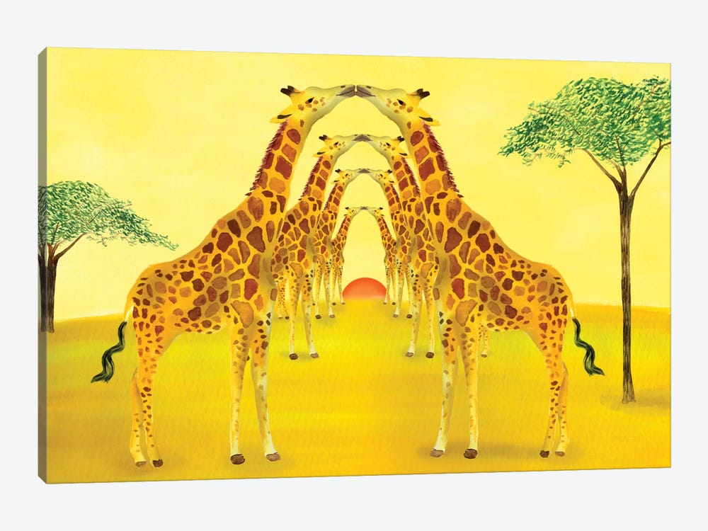 Safari by Ellen Weinstein 1-piece Canvas Wall Art